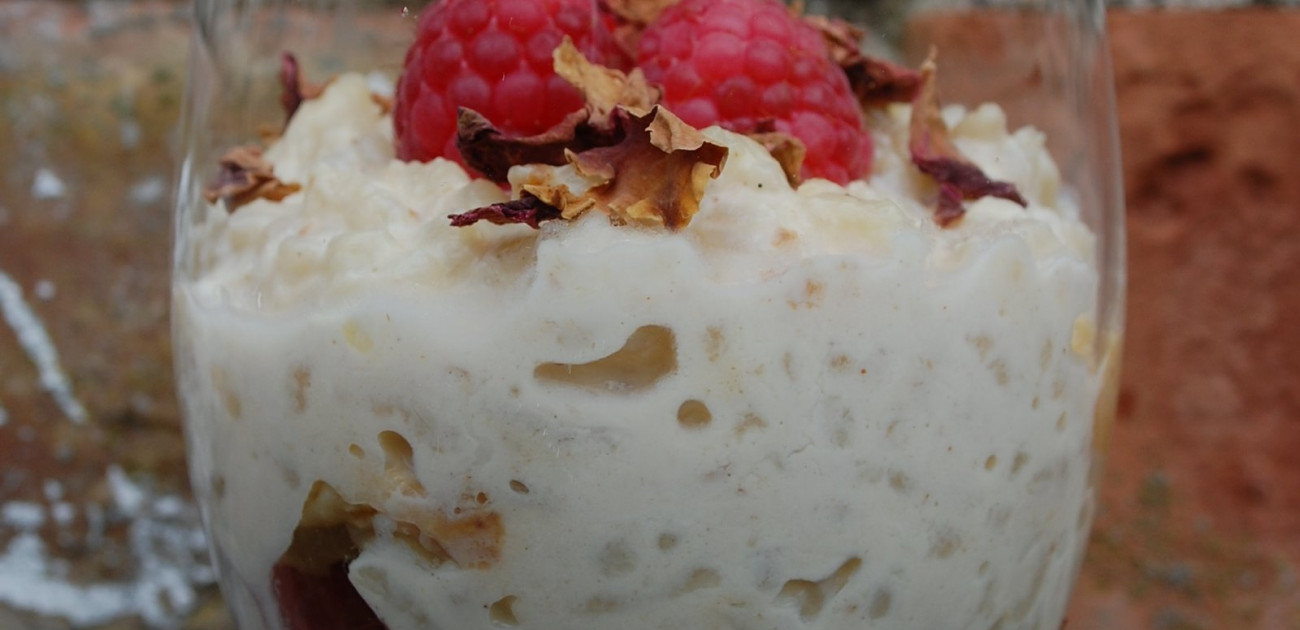 Recipe For Fragrant Rose Rice Pudding or Rose Kheer