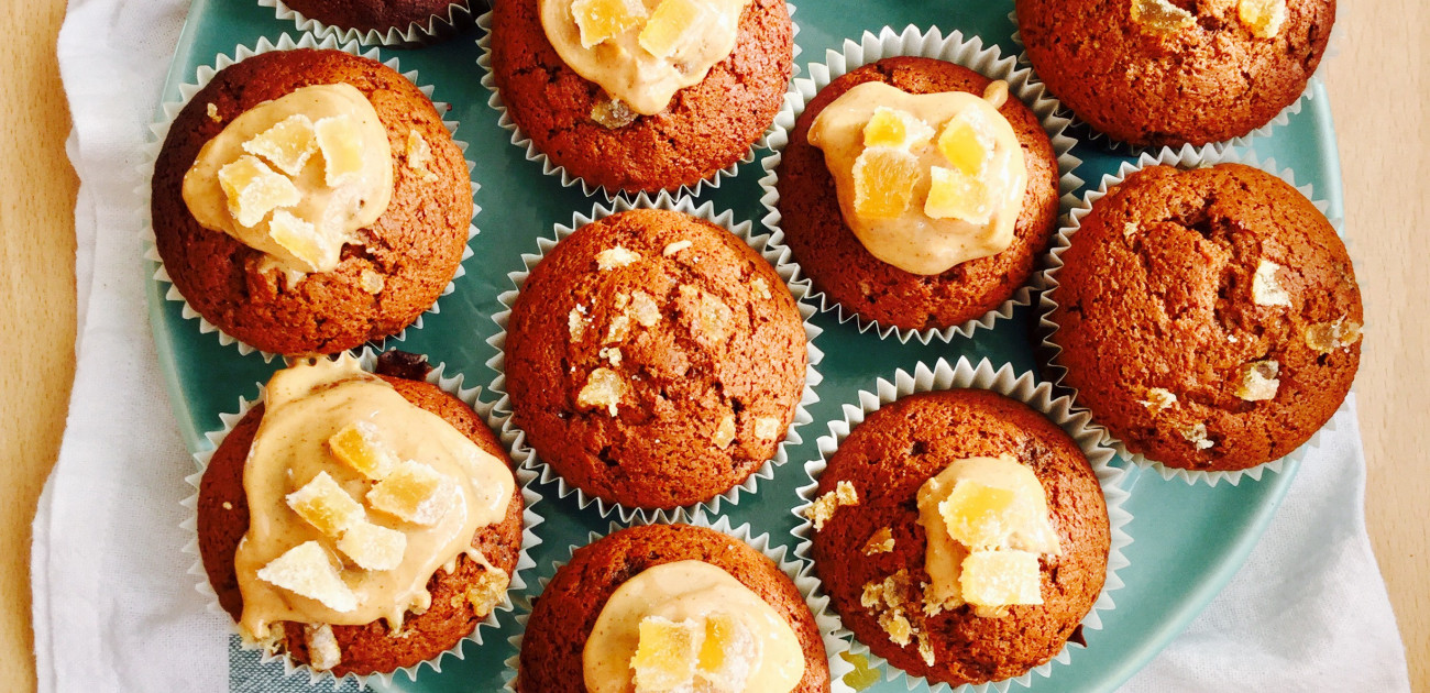 Recipe for Sticky  Ginger Cupcakes