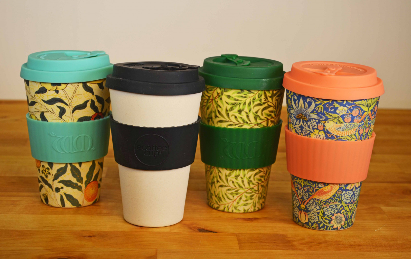 Ecoffee Bamboo cups for drinking on the go