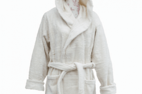 Eco Bath Organic Cotton Hooded Bathrobe/Dressing gown from the Steenbergs UK online shop for
