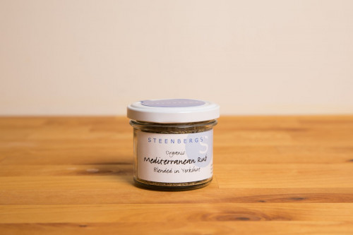 Steenbergs Organic Mediterranean Herby Rub in Glass Jar from the Steenbergs UK online shop for organic herbs and spices.