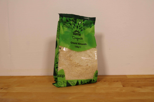 Suma Organic Ground Almonds at Steenbergs UK online shop for organic baking ingredients.