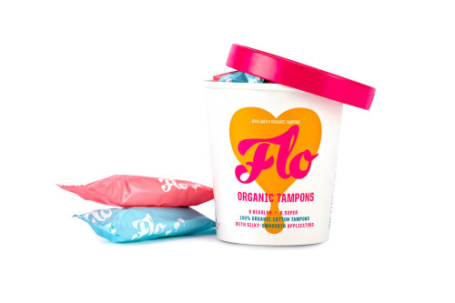 Pink is regular, blue is super and all the packaging is recyclable of these 100% organic tampons available from Steenbergs UK online organic shop.