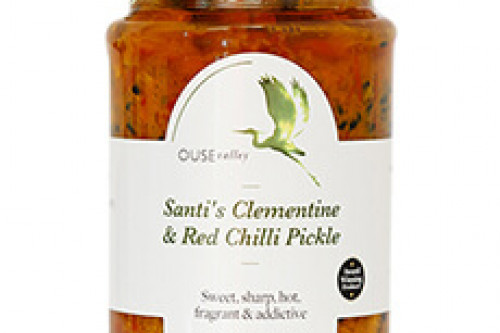 Ouse Valley Santi's Clementine and Red Chilli pickle from the Steenbergs UK online shop for food.