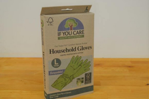 If you Care Fair Trade reusable latex gloves from the Steenbergs UK online shop for ethical and ecofriendly household cleaning items.