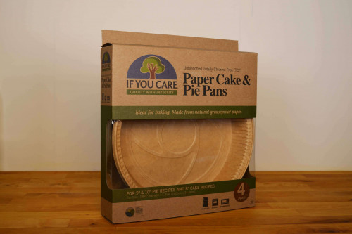 "If you Care Unbleached Paper Cake and Pie Pans suits 8"" cake recipes and 9"" and 10"" pie recipes available from the Steenbergs UK online shop for eco baking and cooking."