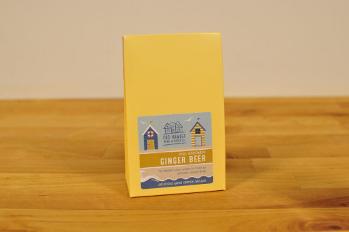 Old Hamlet Beach Hut box of Home Brew Ginger Beer Kit from Steenbergs UK online shop for drinks kits and gifts.