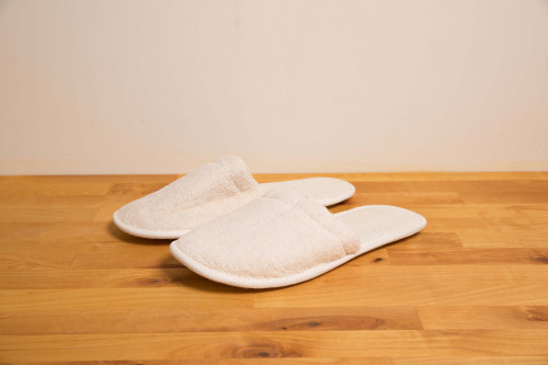 Unbleached Organic Cotton Towelling Slippers XL from the Steenbergs UK online shop for organic cotton slippers, towels and bathrobes.