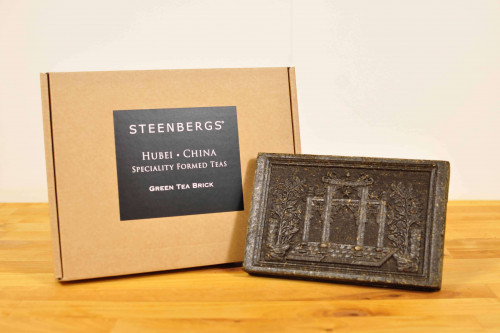 Steenbergs Small Green Tea Brick, boxed, great gift for the tea conisseur from the Steenbergs UK online specialist tea shop.