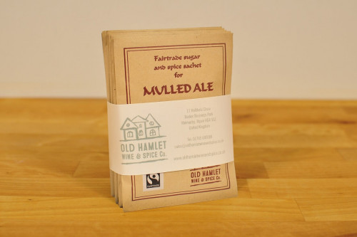 Old Hamlet Fairtrade Mulled Ale Spice Mix - 10 Single Serve Envelopes - from the Steenbergs and Old Hamlet UK online shop for traditional drink mixes.