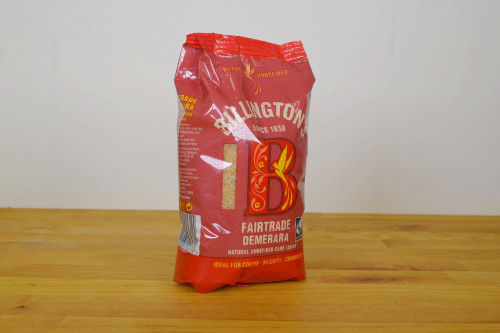 Billingtons Fairtrade Demerara Sugar, Natural Unrefined, from the Steenbergs UK online shop for Fairtrade sugars and baking ingredients.
