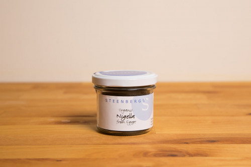 Steenbergs Organic Nigella in Glass Jar from the Steenbergs UK online organic spice shop.