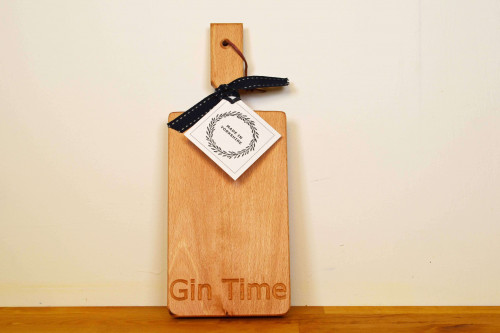 Gin Time Wooden Board , eco friendly and ethical, made in Yorkshire