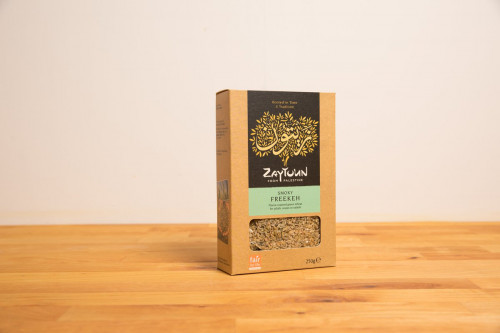 Zaytoun Smoky Freekeh 250g from Palestine from the Steenbergs UK online shop for ethical food.