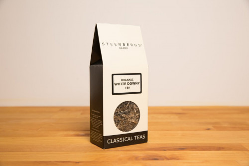 Steenbergs Organic White Downy Tea, Loose Leaf Chinese Tea, from the Steenbergs UK online shop for organic loose leaf teas.