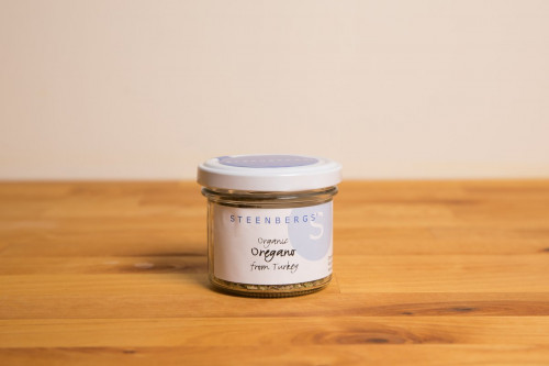 Steenbergs Organic Oregano in Glass Jar from the Steenbergs UK online shop for organic herbs and spices.