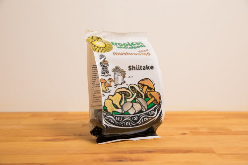 Dried Shiitake Mushrooms 50g Tropical Wholefoods from the Steenbergs UK online shop for ethical food and groceries.