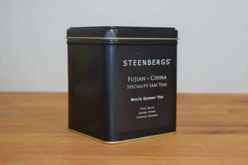 Steenbergs Organic White Downy Tea Loose leaf in a tin from the Steenbergs UK online shop for loose leaf teas and accessories.