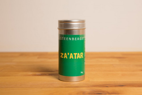 Steenbergs Zaatar Spice Mix in Premium Tin from the Steenbergs UK online shop for arabic and middle eastern spice mixes.