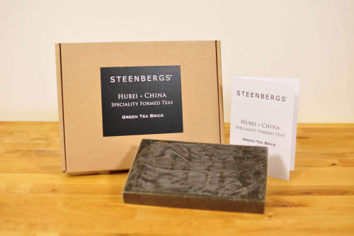 Steenbergs Small Green Tea Brick, boxed, great gift for the tea conisseur