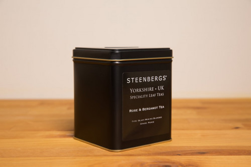 Steenbergs Rose and Bergamot Loose Leaf Tea 125g Tin from the Steenbergs UK online shop for loose leaf teas in tins and tea gifts.