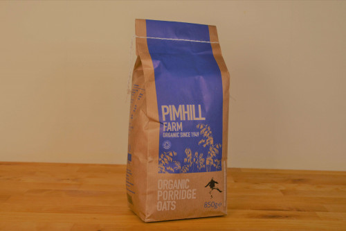 Pimhill Organic Porridge Oats 850g grown and milled in Shropshire