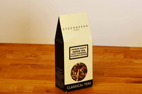 Steenbergs Loose Leaf  Arabian Nights Green Tea with Cinnamon, Flowers and Spices
