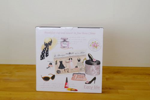 Gift box for large cup and saucer from the Steenbergs UK online shop for tea gifts.