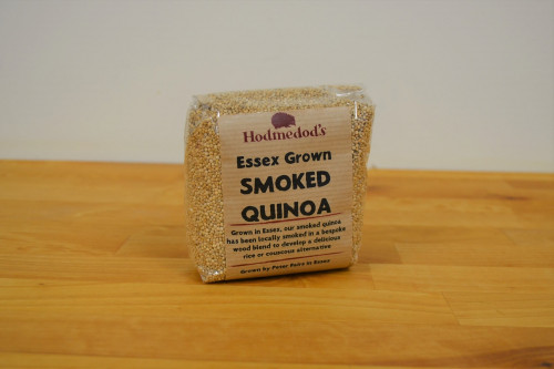 Hodmedod's Essex Grown Smoked Quinoa from the Steenbergs UK online shop for vegan food.
