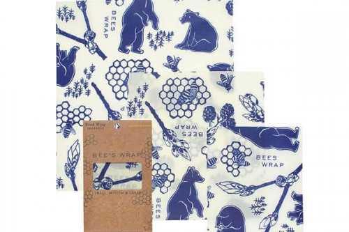 reusable food wrap from Beeswrap - Bees and bear design