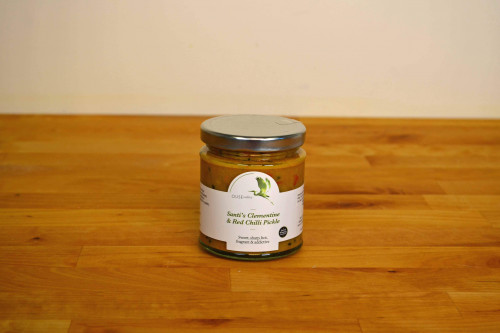 Ouse Valley Santi's Clementine and Red Chilli pickle from the Steenbergs UK online shop for chutneys and pickles.