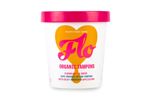 Here We Flo organic applicator tampons from the Steenbergs UK online shop for ecofriendly toileteries.