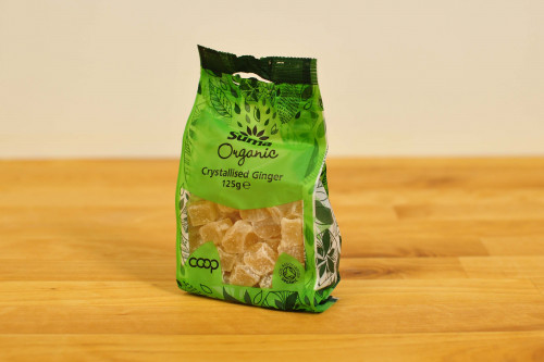 Suma Organic Crystallised Ginger from the Steenbergs UK online shop for organic baking ingredients.