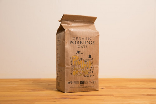 Previous packaging for Pimhill Organic Porridge Oats