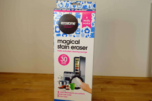 Ecozone Magical Stain Eraser, non toxic, water activated cleaning sponge from the Steenbergs UK online shop for ecofriendly household cleaning.