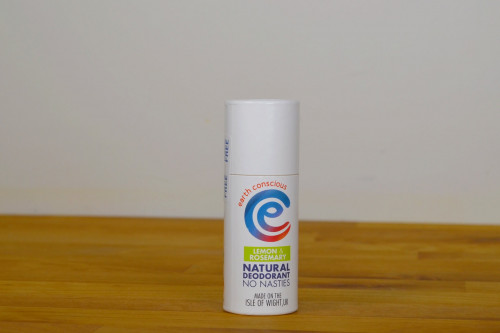 Earth Conscious Lemon and Rosemary Natural Deodorant from the Steenbergs UK online shop for plastic free deodorants.