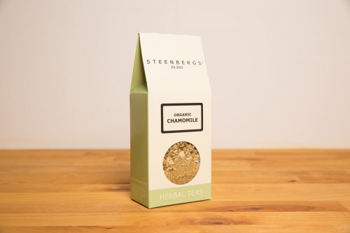 Steenbergs Organic Chamomile Loose Herbal Tea from the Steenbergs UK online shop for loose herbal teas and organic herbal teas.