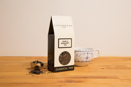 Rose and Bergamot Black Loose Leaf Tea 80g