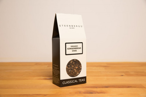 Steenbergs Organic Gingerbread Chai Tea 100g loose leaf from the Steenbergs UK online shop for chai teas and organic loose leaf teas.