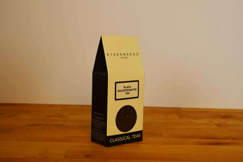 Steenbergs Loose Leaf Black Decaffeinated Tea from the Steenbergs UK online loose leaf tea shop.