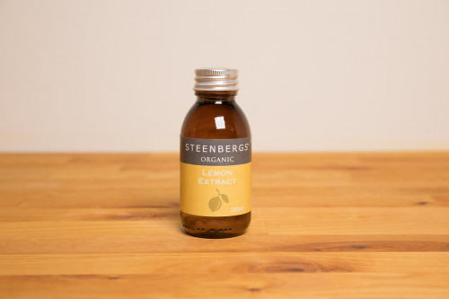 Steenbergs Organic Lemon Extract, alcohol free, from the Steenbergs UK online shop for organic baking extracts, flavours and  ingredients.