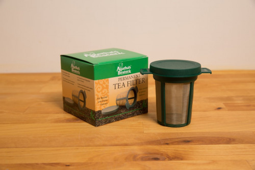 Cup Size Permanent Tea Filter / Infuser Agatha Bester with Stainless Steel Mesh from the Steenbergs UK online shop for loose leaf tea and herbal teas.