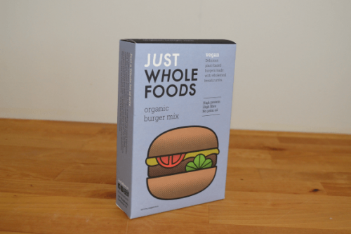 Just Whole Foods Organic Vegan Burger Mix from the Steenbergs UK online shop for organic and vegan food.