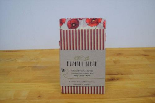 Bumble Wrap plastic free midi size - poppy design - from the Steenbergs UK online shop for eco cooking and food.