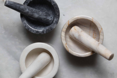 Marbletree White Marble Mini Pestle and Mortar, handcrafted in Cumbria from the Steenbergs UK online shop.