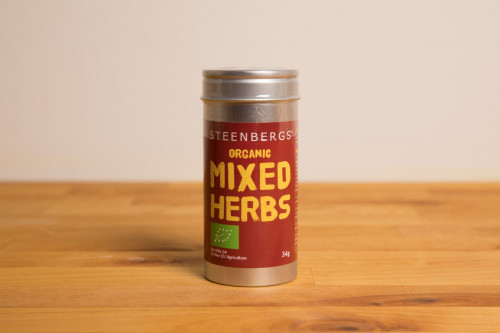 Steenbergs Organic Mixed Herbs Premium Tin from the Steenbergs UK online shop for organic herb mixes and seasonings.