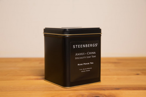 Steenbergs Rose Pekoe Loose Leaf Tea 125g Tin from the Steenbergs UK online shop for loose leaf teas and tea in tins.
