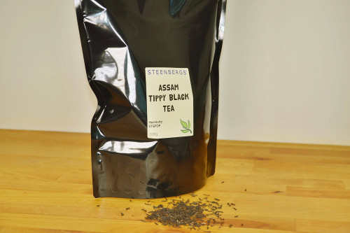 Steenbergs single estate Tippy Assam loose leaf tea from the Harmutty Estate, available at Steenbergs UK online shop for loose leaf teas.