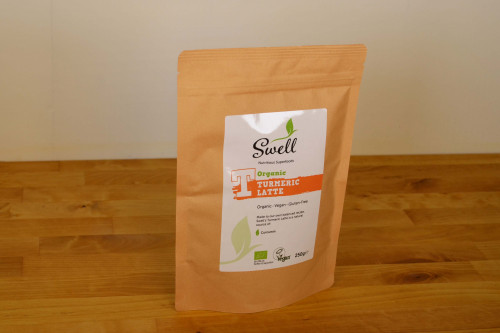 Swell Organic Turmeric Latte Drink Mix 250g, created and made in Yorkshire, UK
