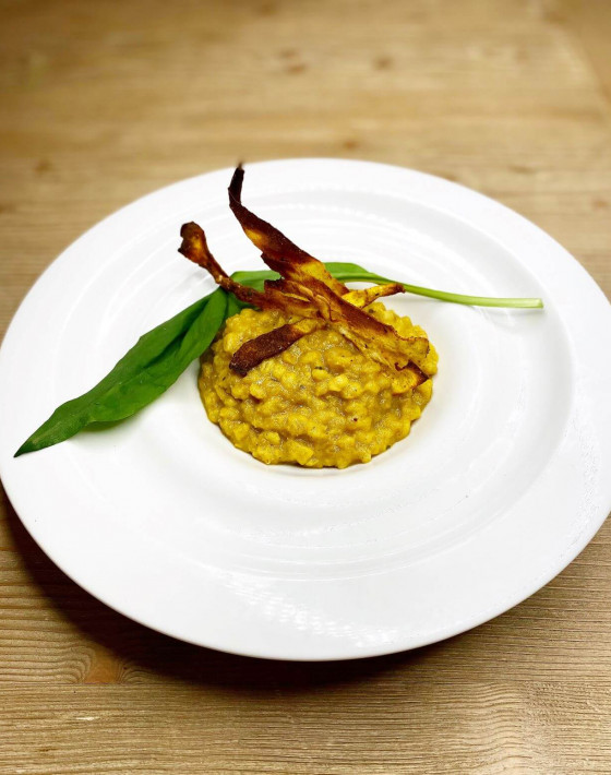 Curried Parsnip Pearl Barley Risotto